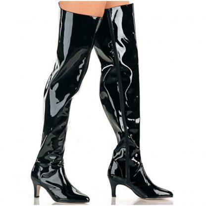3 inch block heel Wide Width Thigh High Boot
