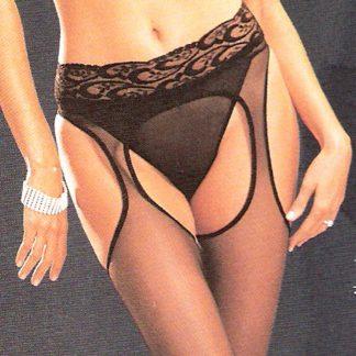 Sheer Lycra Suspender Pantyhose