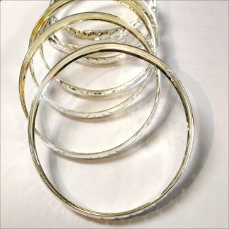 Large size silver bangles