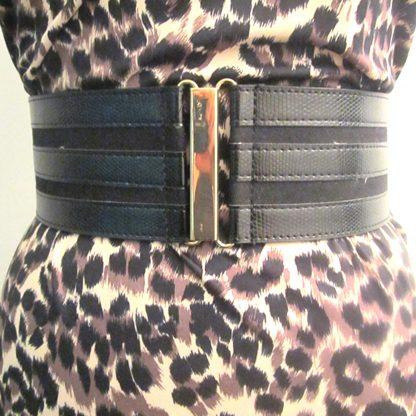 Leather Strips Belt