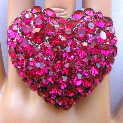 Heart Ring - Fuschia