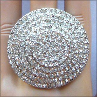 rhinestone circle ring