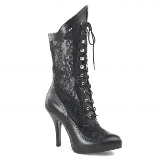 Leather and Lace Ankle Boot