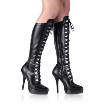 lace up knee boots with 1 inch platform
