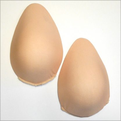 Wildside Foam Breast Forms Covered and Oval Teardrop in shape