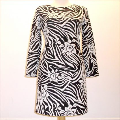 Swirly Black and White Dress