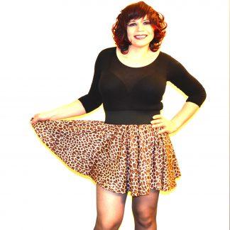 Full Circle Leopard Skirt
