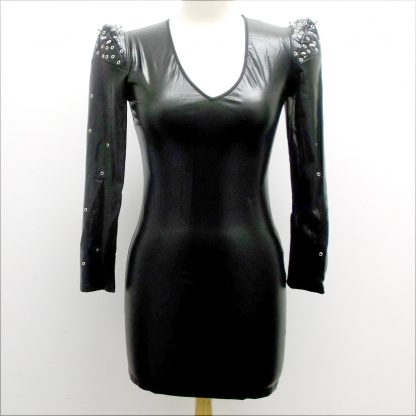Wetlook Dress Front View