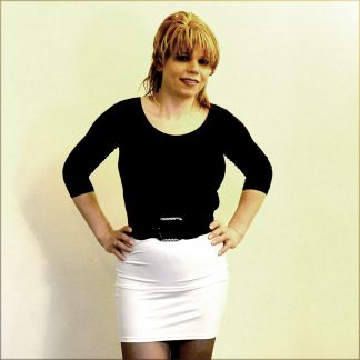 Stretchy White Skirt