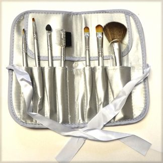 Wildside Silver Makeup Brush Set