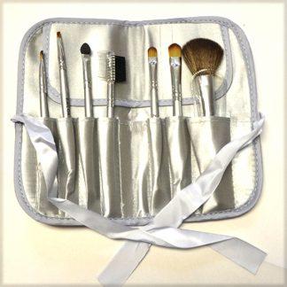 Wildside Silver Makeup Brush Set