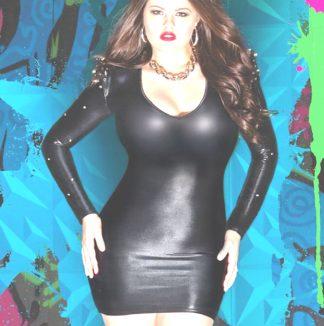Fetish Dress Wetlook with Studs