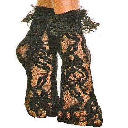 Ankle Sox Black Lace