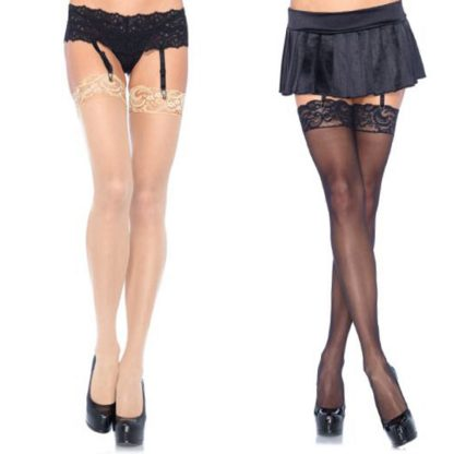 Lace Top Sheer Stockings