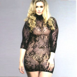 Wildside Stretchy Black Floral Lace Dress