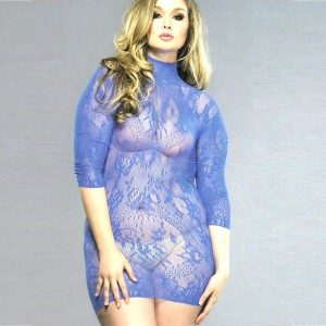 Wildside Stretchy Blue Floral Lace Dress
