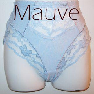 Lace Inset Panty Mauve