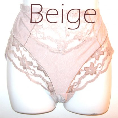 Lace Inset Panty Beige