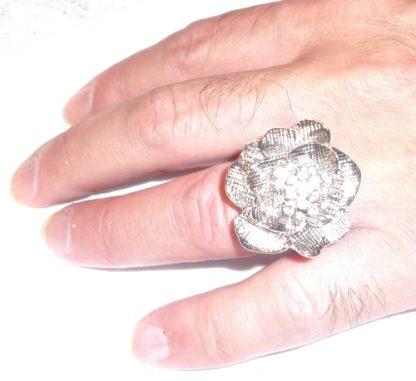 Silver Rose Rhinestones