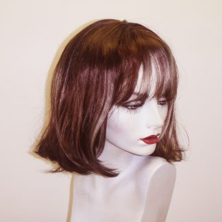 Straight bob with highlights.
