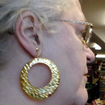 Pounded Circle Earring