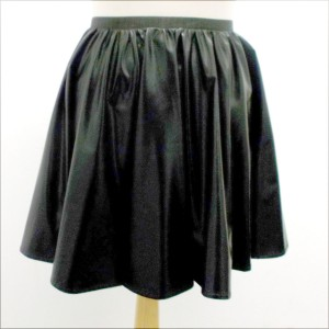 Full Circle Wet Look Skirt