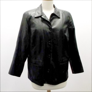 Black Leather Jacket 1x-2x