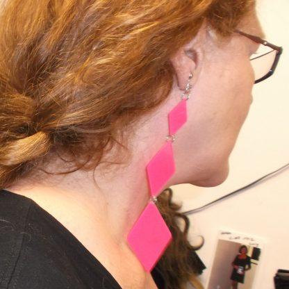 Plastic Diamond Earring