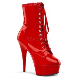 Red Platform Ankle Boot