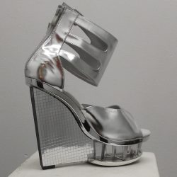 Outrageous Silver Platform Shoes