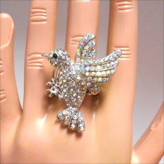 Dove of Love Rhinestone Ring