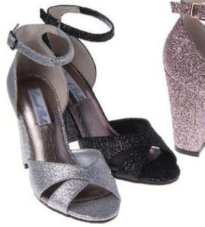 glittery party shoe