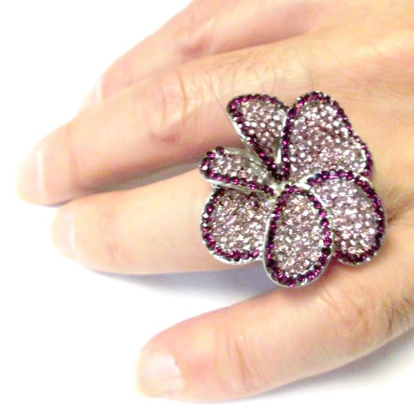 Mauve Flower Ring