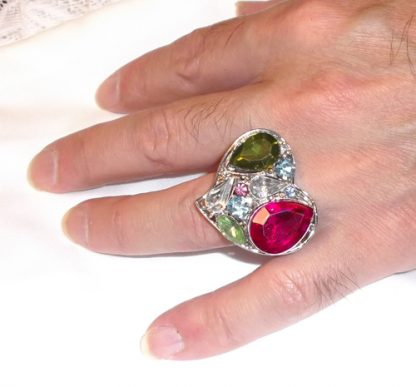 Heart Ring with Stones