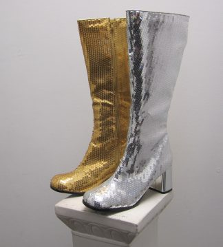 Gogo Gold and Silver Boots